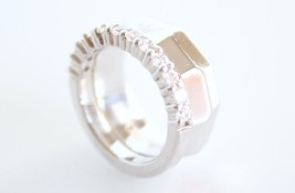 Emporio Armani .925 Sterling Silver Ring Size 9 EG2840 $140 BNWT with EA Pouch - $84.11