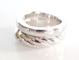 Emporio Armani .925 Sterling Silver Ring Size 5.5 EG2791 $140 BNWT with EA Pouch - $74.11