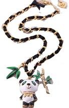 Betsey Johnson Neckalce Panda Bear Charm Pendant Fashion Jewelry - $22.99