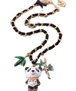 Betsey Johnson Neckalce Panda Bear Charm Pendant Fashion Jewelry - $22.99