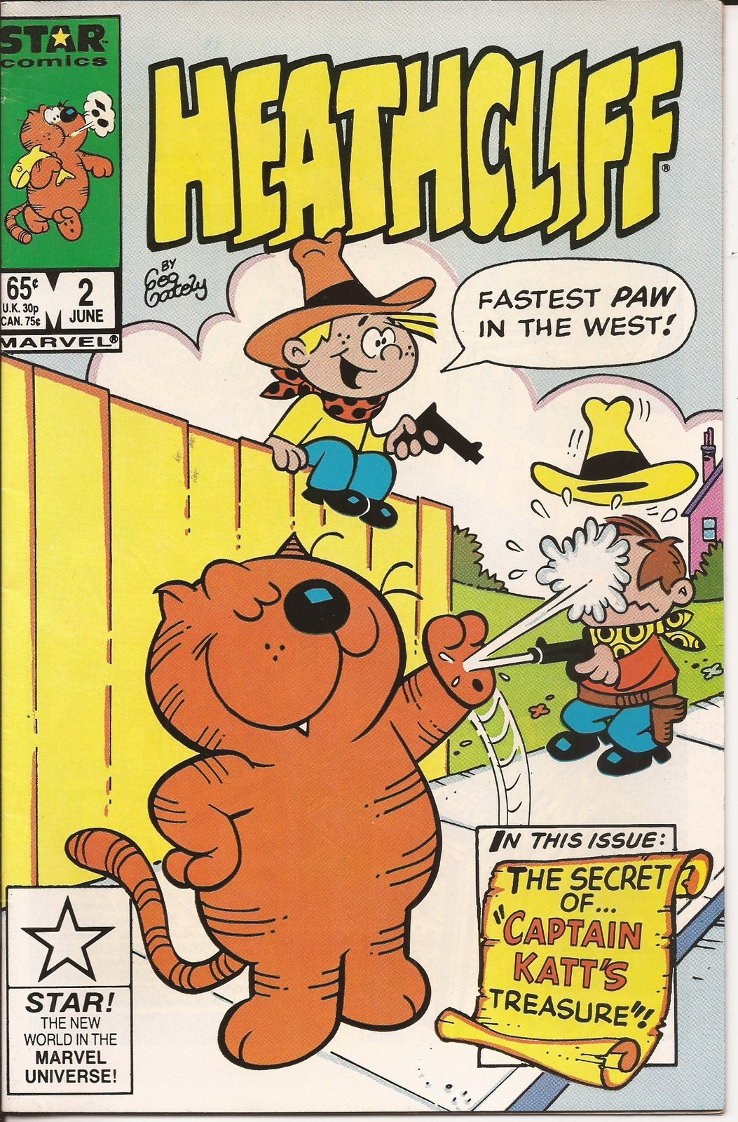 Marvel Heathcliff #2 Secret Of Captain Katt's Treasure Funny Animal Hijinks