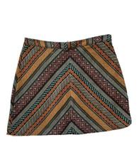 Forever 21 Skirt Embroidered Aztec Mini Skirt Southwestern Medium Boho S... - $14.84