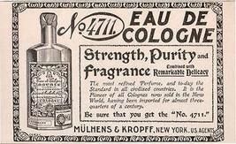 No. 4711 Eau De Cologne Perfume Antique 1898 Print AD - $18.99