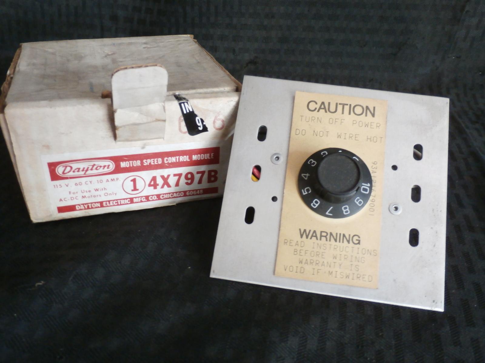 Dayton 4x797b Motor Speed Control Other