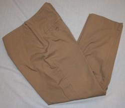 Talbots Petites Classic Side Zip Womens Pants 10P 10 Brown Beige Slimming - $19.43