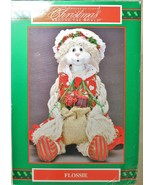 House of Lloyd Christmas Around the World Flossie Bunny Shelf Sitter Dec... - $24.74