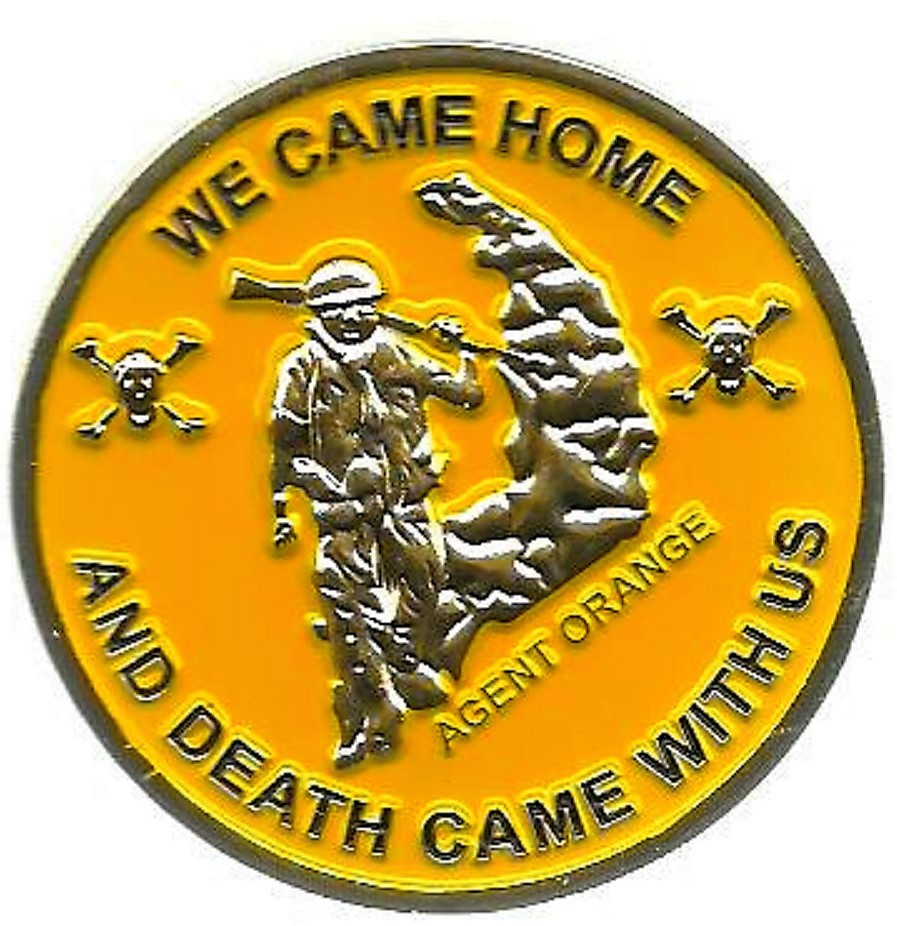 US Military Agent Orange Ranch Hand Vietnam Challenge Coin We came home death wi - $15.99