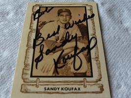 SANDY  KOUFAX   HAND  SIGNED  AUTOGRAPHED  1980  BASEBALL  LEGENDS  # 10... - $174.99