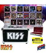 KISS Album Cover Coaster Set in Guitar Case - Comic Con Exclusive, Bif Bang Pow! - ₹5,860.40 INR