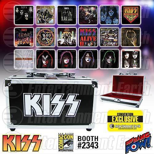 Image 3 of KISS Album Cover Coaster Set in Guitar Case - Comic Con Exclusive, Bif Bang Pow!