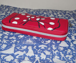 Disney Parks Minnie Mouse Bow Lg Wallet/ Wristlet NWT Pink image 3