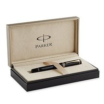Parker Duofold International Black with Gold-plated Trim, Fountain Pen with F... - $509.25