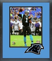 Cam Newton 2016 Carolina Panthers -11 x14 Team Logo Matted/Framed Photo - $42.95