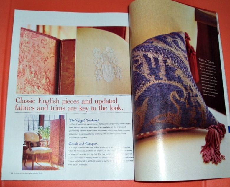 Better Homes & Gardens Home Decor Sewing Magazine Back Issue 2005