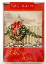 16 Christmas Holiday Cards Outdoor Wreath Tree Expressions From Hallmark  - $12.19