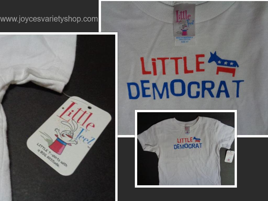 Little teez democrat tshirt collage