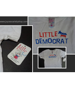 LITTLE DEMOCRAT Toddler T-Shirt NWT Sz 4T 100% Cotton Little Teez - $7.99