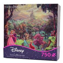 disney kinkade sleeping beauty aurora & phillip 750 pieces puzzle new wi... - $8.87