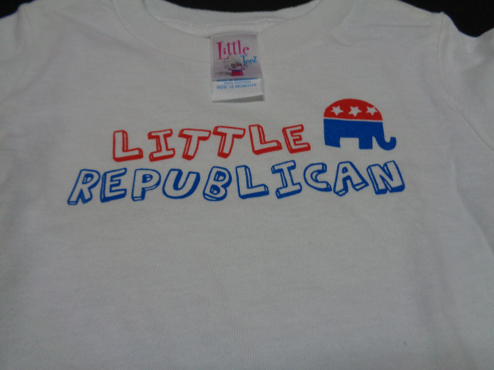 LITTLE REPUBLICAN Toddler T-Shirt NWT Sz 6 Months 100% Cotton Little Teez