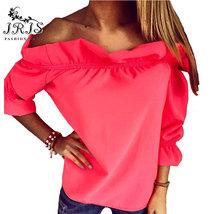 Sexy off shoulder BOHO top Crop T shirt BLOUSE womens tops summer fall f... - $16.99