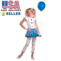 California Costume Dotsy Clown Girl Kid Child Halloween Cosplay Party Fu... - $33.70