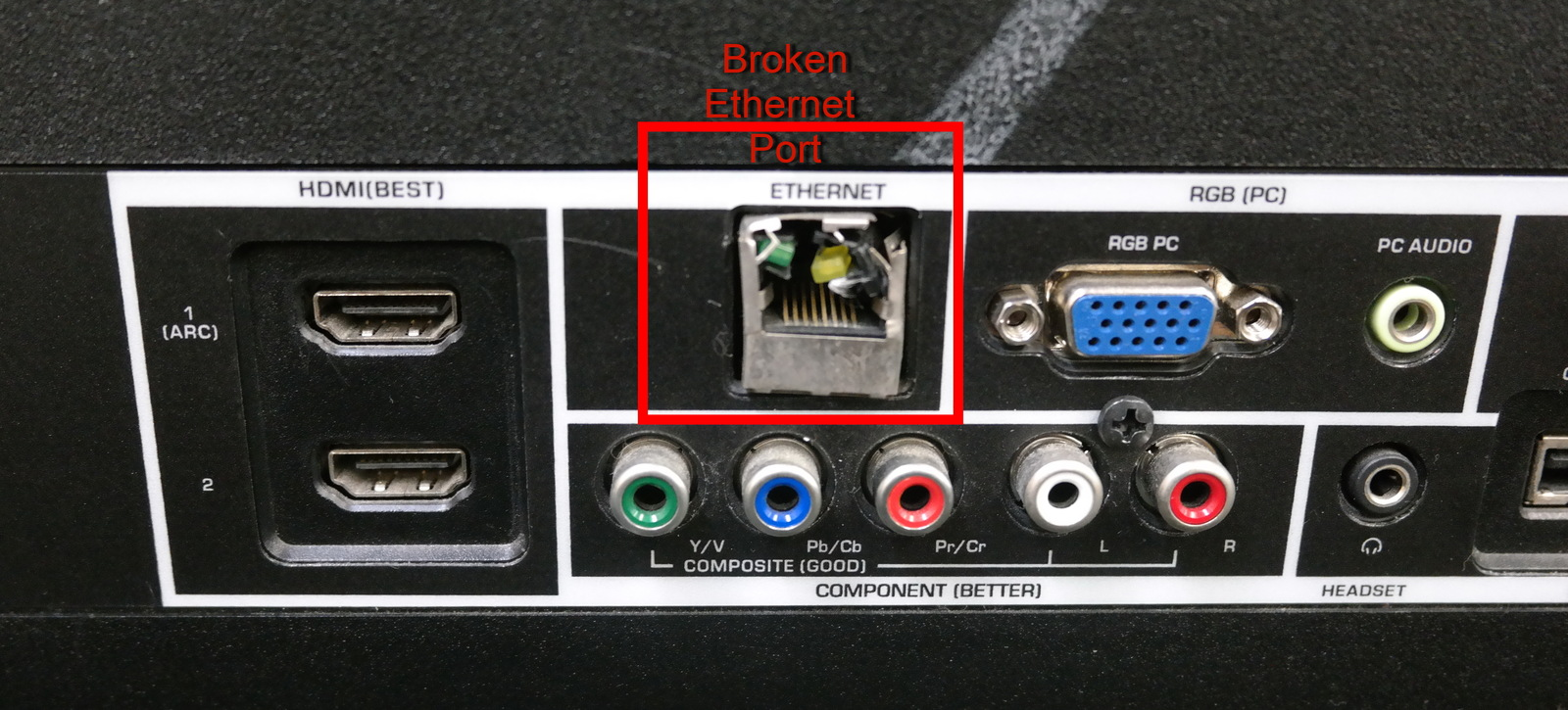 how to fix a broken ethernet port