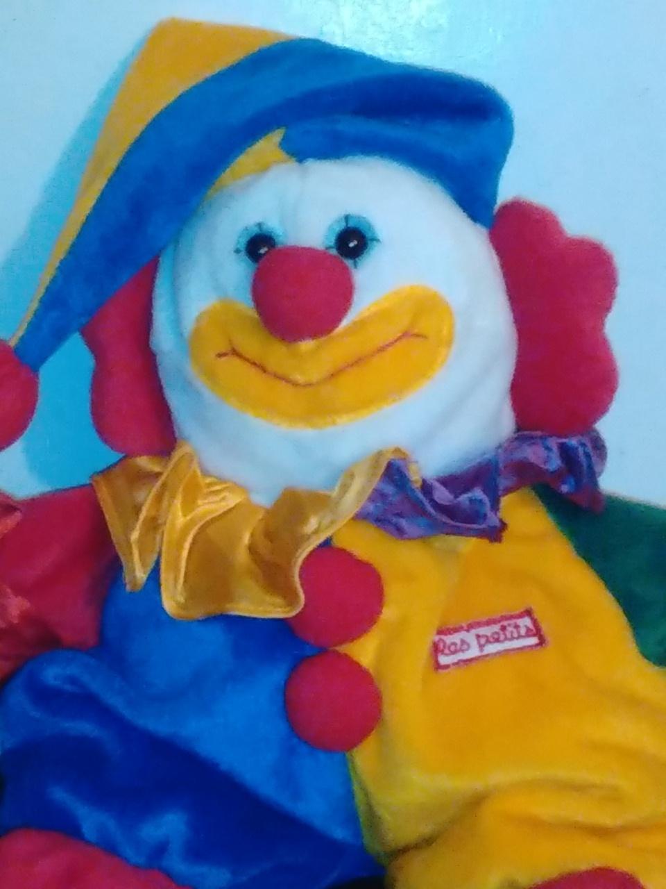 """Le Petits 11"""" plush clown image 2"""