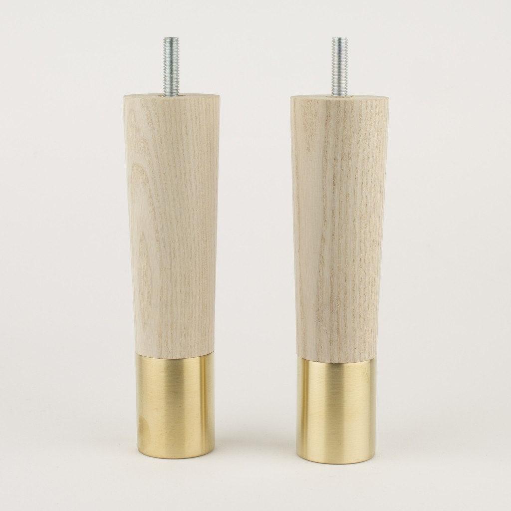 Set Of 2 Mid Century Modern Furniture Legs Replacement Legs In Teak