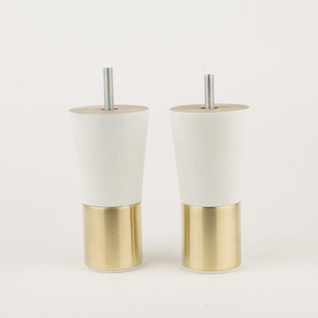 Mid Century Modern Brass Furniture Legs Replacement Legs
