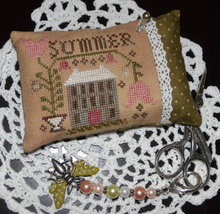 A Summer Pin Pillow cross stitch chart Abby Rose Designs - $8.10