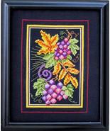 Fall Grapes cross stitch chart Bobbie G Designs - $7.20