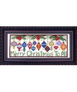 Merry Christmas To All cross stitch chart Bobbie G Designs - $9.00