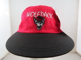NC State Wolfpack Hat (Vintage) - Angry Wolf Face - Adult Leather Strapback - $65.00
