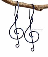 Indigo Treble Clef Dangling Earrings - $19.90+