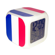 Led Alarm Clock France National Flag Creative Desk Digital Clock Kids To... - $19.99