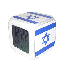 Led Alarm Clock Israel National Flag Creative Desk Digital Clock Kids To... - $19.99