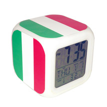 Led Alarm Clock Italy National Flag Creative Desk Digital Clock Kids Toy... - $19.99