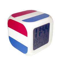 Led Alarm Clock Netherlands National Flag Creative Desk Digital Clock Ki... - $19.99