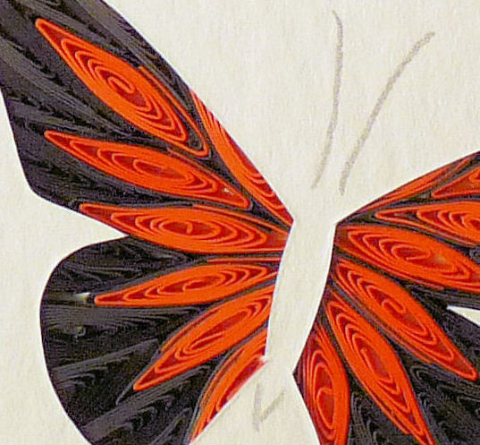 Tiny Quilled Monarch Butterfly