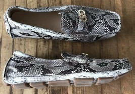 Cole Haan Loafers Women's Size 7.5 Leather Snakeskin Shoe Driving Moccas... - $48.83