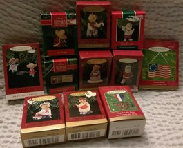 L@@K LOT of 11 VINTAGE HALLMARK KEEPSAKE ORNAMENTS Many NEW SANTA BEARS ... - $18.50