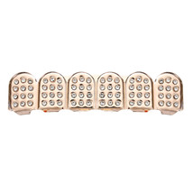 Fine Brass Metal Plated w/14k Gold Tone Plating Rhinestone - One Set Rose Gold image 2