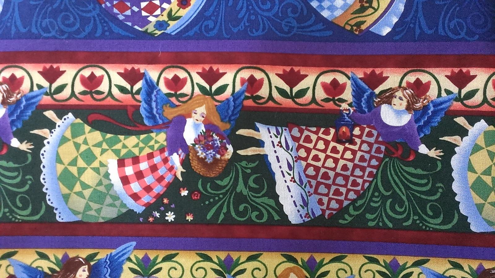 Angel Stripe Christmas Border By Jim Shore 2 Yards Quilt