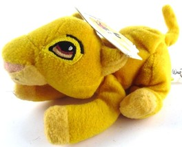 Disney World WDW Souvenir Bean Bag Plush SIMBA from Lion King Cub with Tags - $10.97