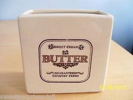 Sweet Cream Butter Country Fresh Ceramic Contai... - $15.00