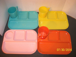vintage childrens melamine LOT small lunch tray... - $45.00