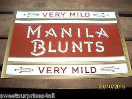 cigar paper label manilla blunts vintage unused... - $15.00