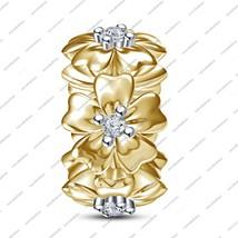 Flower 925 Sterling Silver Charm Bead for Pandora/Troll/Chamilia Chram B... - $41.04
