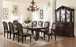 Crown Mark 2150 Dining Room Set 9pc. Kiera Brown finish Traditional Style
