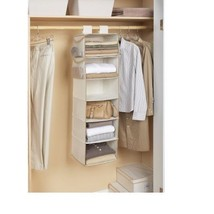 Canvas 6-Shelf Hanging Organizer Multipurpose Storage, White - $17.74